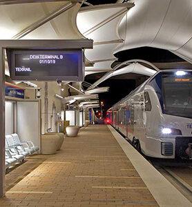 TEXRail Station at Terminal B